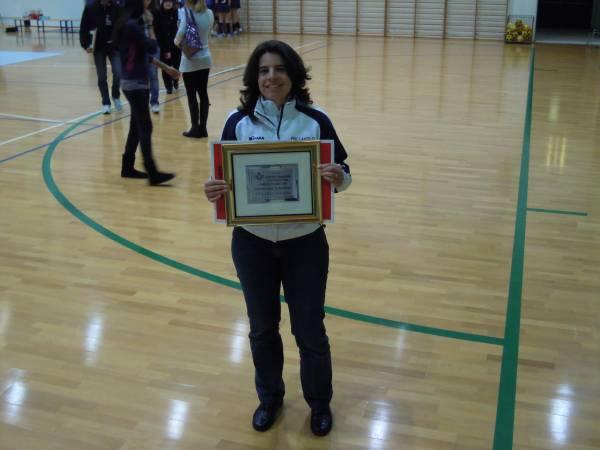 Premiazione Elisa Fiori atleta dell´anno